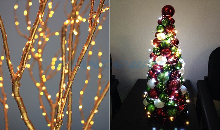 6m 120LEDs waterproof LED wire string lights for LED Christmas tree decorating