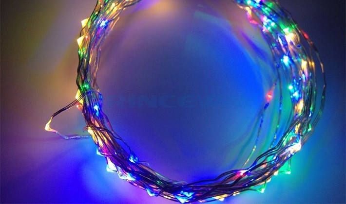 Rgb Led Christmas Lights.Rgb Led Christmas Wire Lights Colorful Led String Lights Rgb
