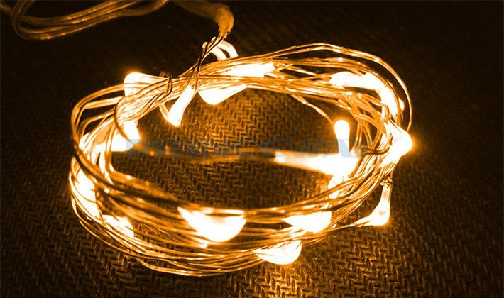 White Wired Christmas Lights