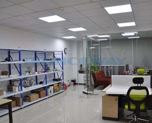 the application of ultra thin 60x60cm led panel ceiling lights in sales office
