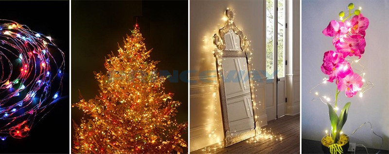 flexible led copper wire light is the best decoration for christmas and festivals