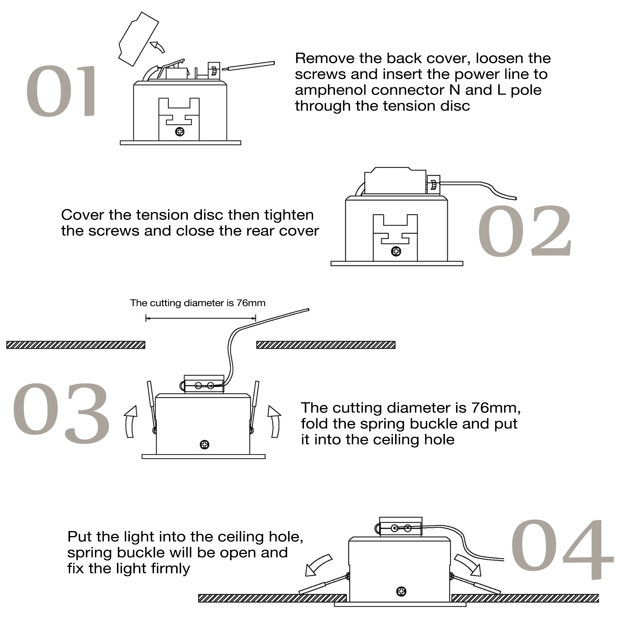 Downlight Wiring Instructions Guide And Troubleshooting Of Canned Light Switch Diagram 6w Cob Led Recessed Best Downlights For Home Fitting